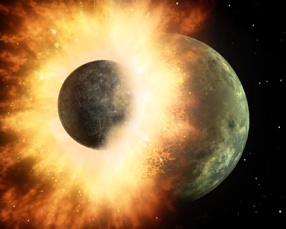 Earth's Moon was born from Violent Collision between Early Earth and Forming Planet