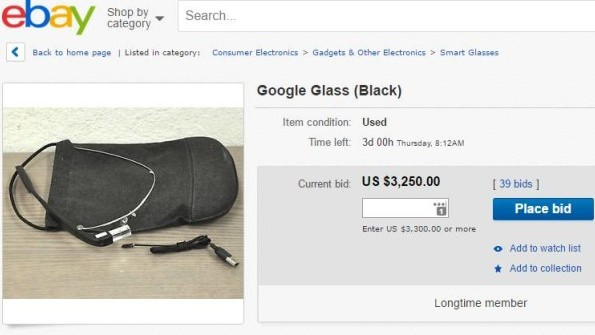 Google Glass Enterprise Edition reportedly listed for sale on eBay