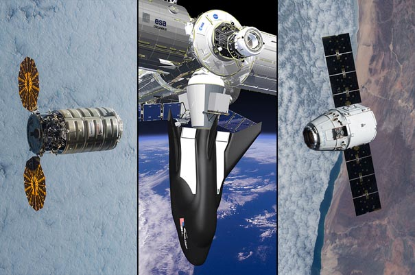 NASA Awards SpaceX, Orbital ATK, and Sierra Nevada Corporation for Three ISS Contracts