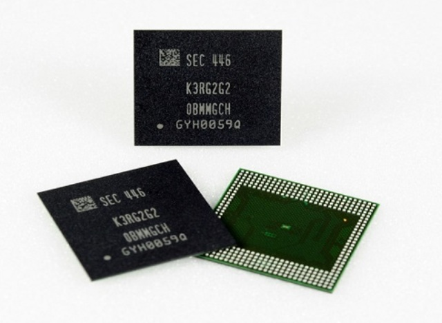 Samsung unveils world's first 8GB LPDDR4 DRAM package