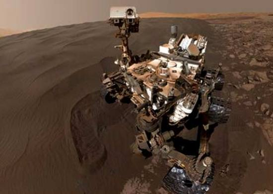 Mars Curiosity Rover sends Selfie to NASA